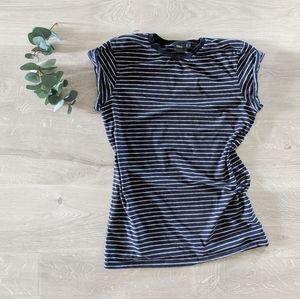 ASOS Casual Stripe Roll Sleeve Tee Shirt